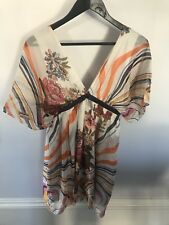 Traffic People Womans Floral Dress Excellent Conditions Size XS 100% PURE SILK