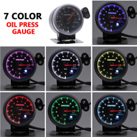 2.5''60mm Electronic Oil Pressure Press Gauge Meter +Sensor Colorful Shark Dial