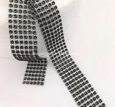 BLACK EFFECT BLING RIBBON SPARKLY Cake decorating Card craft mesh silver mesh