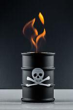 Öllampe FIRE CONCEPT Barrel Brennkammer Feuertonne für Brenngel Totenkopf 3314