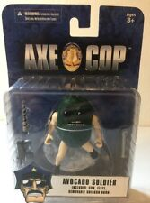 "Figure - Axe Cop 4"" Series 1 Avocado Soldier Action Figure NOC"