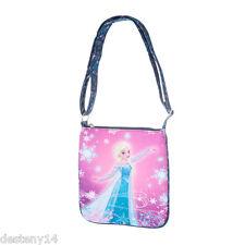 Disney Frozen Elsa Girl's Crossbody Bag Purse Handbag Heart Charms Ice Princess