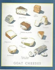Cooks Illustrated ~ BACK COVER ONLY ~ Framable  Art John Burgoyne: GOAT CHEESES