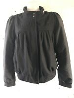 Adidas Originals A.039 Women's Bomber Jacket Size 18 Black Varsity Jacket BNWT
