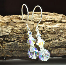 Sparkling Ice made with Swarovski Elements Crystal AB Earrings Sterling Filled