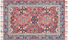 5'x7' Loloi Rug Zharah Wool Rose Denim Hand-hooked Transitional ZR-03