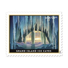 USPS New Grand Island Ice Caves Priority Mail Express� Pane of 4