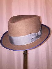 827) NWT auth STETSON brown FUR FELT HAT size MEDIUM retail $199