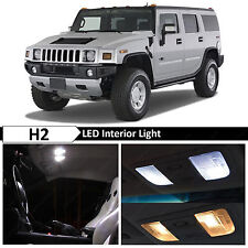 17x White Interior LED Lights Package Kit for 2003-2009 Hummer H2 + TOOL