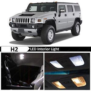 17x White Interior LED Lights Bulbs Package Kit for 2003-2009 Hummer H2
