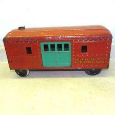 Vintage Railway Express Steelcraft Railroad Car, Pressed Steel Toy