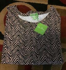 VERA BRADLEY Cozy Knit Pajama Top Zebra Print NWT Size XS Animal Print