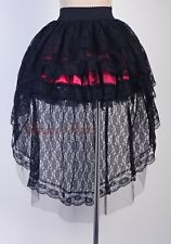 Gothic Black Red Lolita Punk Size S-6XL LAYER Lace Victorian SKIRT RR A3135