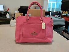 Coach Emma Satchel Crossbody Leather Handbag - Pink Ruby - F31467