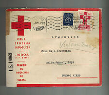1943 Lisbon Portugal Red cross censored cover to Buenos Aires Argentina