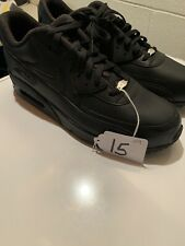 Nike Air Max 90 Leather Men's Shoes Size 15 (Black) *BRAND NEW*