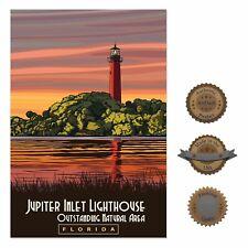 "13""×19"" Historic Art Poster ~ Florida Lighthouse Everglades Nature Ocean Travel"
