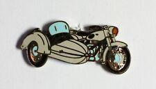 Pin's Moto side-car blanc