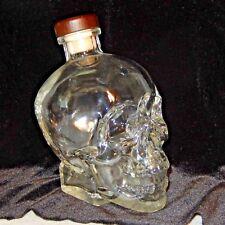Crystal Head Vodka SKULL Glass Bottle Full Size 750 ml Canada Cork Stopper Empty