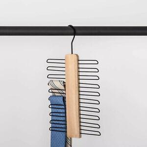 MADE BY DESIGN Tie/Belt Hangers | Black/Wood 🆕