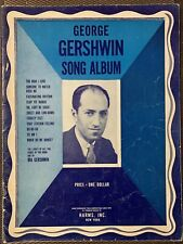 GEORGE GERSHWIN 11 SONG ALBUM Vintage PIANO SHEET Music 1938 Harms, Inc. NY