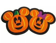 More details for disney store mickey minnie mouse pumpkin halloween door mat trick or treat 2020