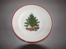 Cuthbertson American Christmas Tree - England Red Band - Dinner Plate - 10""