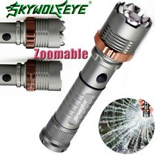 Zoomable 15000LM Flashlight Tactical 5Modes  T6 LED Torches Light 18650 Battery
