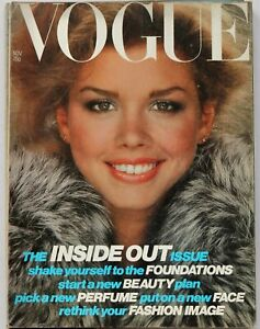 70s vintage Vogue fashion & beauty magazine Terence Donovan Debbie Dickinson