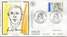 FRANCE FDC - 2682 1 ANDRE BRETON - 23 Fevrier 1991 - LUXE sur soie