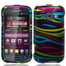 """For Samsung """"Prevail 2"""" Protector HARD Snap on Phone Case Cover Colorful Zebra"""