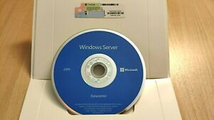 Microsoft Windows Server 2019 Datacenter 64-Bit 16 Core License COA Sticker DVD