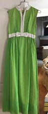 Emma Domb Lime Green Formal Prom Dress Circa 1974