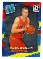 2017-18 Optic RATED ROOKIE RED YELLOW LAURI MARKKANEN RC Bulls SP QTY AVAILABLE