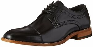 Stacy Adams Mens Dickinson Leather Lace Up Dress Oxfords, Black, Size 10.5 KHaX