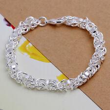 Damenarmband Flechtkette Schmuck 20cm Armband pl. mit Sterlingsilber DA073 T::A