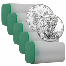 Silver Eagle 1 oz Coin Lot of 100 Random Dates In Mint Tubes