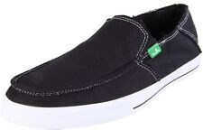 Sanuk Men's Black Standard Slip-on Canvas Lightweight Vegan Shoes NEW Size 11
