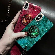 Glitter Phone Case Cover Strap Holder With 2 Screen Protector Films For Samsung