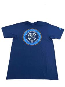 Adidas MLS New York City FC S/S Go-To Tee Navy/Light Blue/Orange 28L001