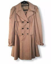ASOS Skater Swing Coat Jacket Mac Size 14 Pink Quirky Laced Back Knee Length