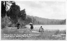 Old Photo Fishing Willow Creek Lassen Volc Natl Park CA