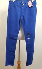 Arizona Womens Super Skinny Jeans Cobalt Blue Cotton Blend Size 5 NWT