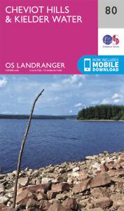 Cheviot Hills & Kielder Water Landranger Map 80 Ordnance Survey Latest