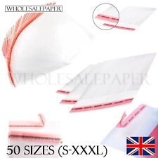 CLEAR CELLOPHANE PLASTIC BAGS SMALL LARGE SELF SEAL CELLO FOR GIFTS CARDS SWEETS