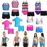 Toddler Baby Girls Kids Swimsuit Bathing Tankini Bikini Set Swimwear Beachwear