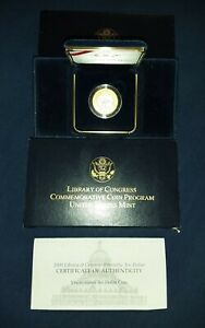 2000 W Library of Congress Bi-metallic Gold Platinum $10 UC Uncirculated