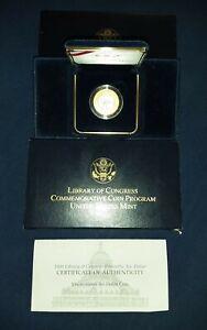 2000 W Library of Congress Bi-metallic Gold Platinum $10 UC Uncirculated