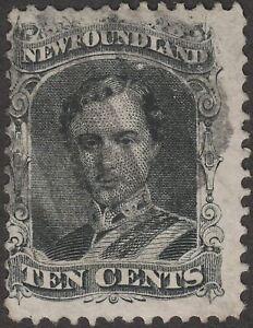 Newfoundland 1870 QV Prince Consort 10c Black Used SG32 cat £48