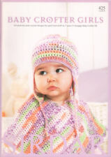 Baby Crofter Girls Knitting Patterns Book Snuggly DK Children 0-7 yrs Sirdar 425